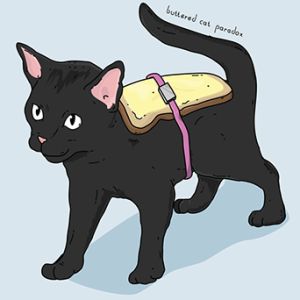 Artistic Rendering of the Buttered Cat Scenario