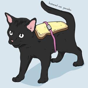 Artistic Rendering of the Buttered Cat Scenario